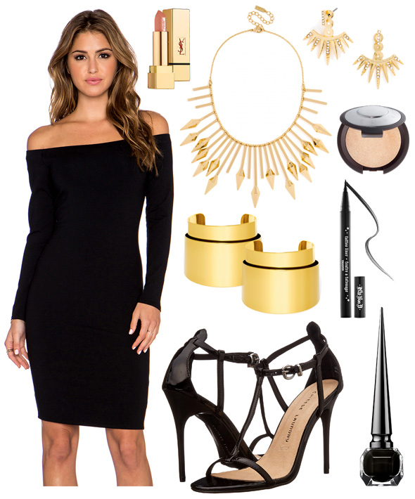 black-dress-bodycon-offshoulder-gold-necklace-bib-earrings-black-shoe-sandalh-hairr-fall-winter-nye-party-dinner.jpg