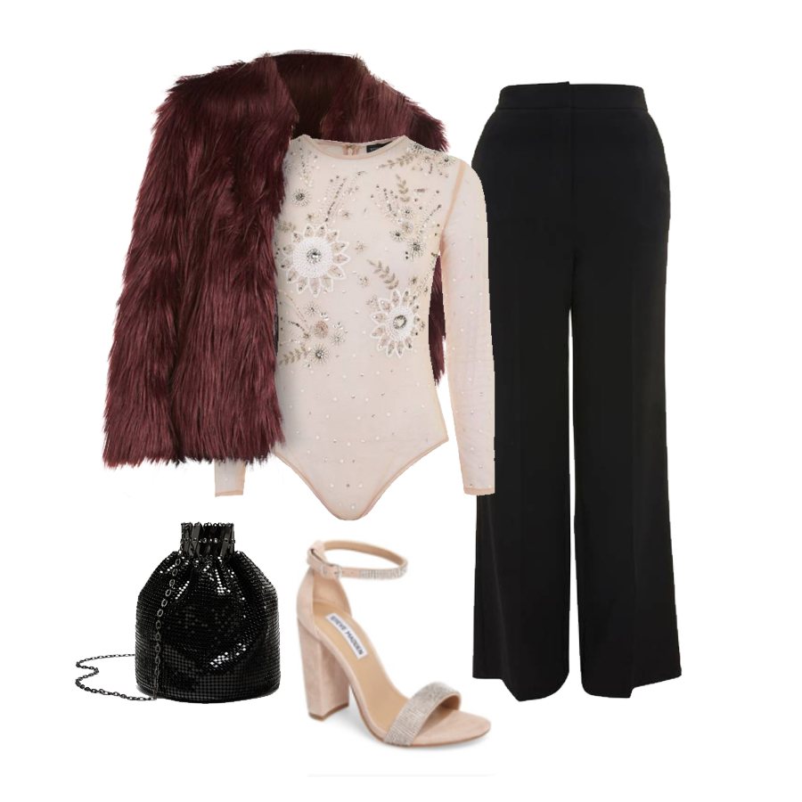 black-wideleg-pants-pink-light-top-bodysuit-jewel-burgundy-jacket-coat-fur-pink-shoe-sandalh-black-bag-fall-winter-nye-party-dinner.jpg