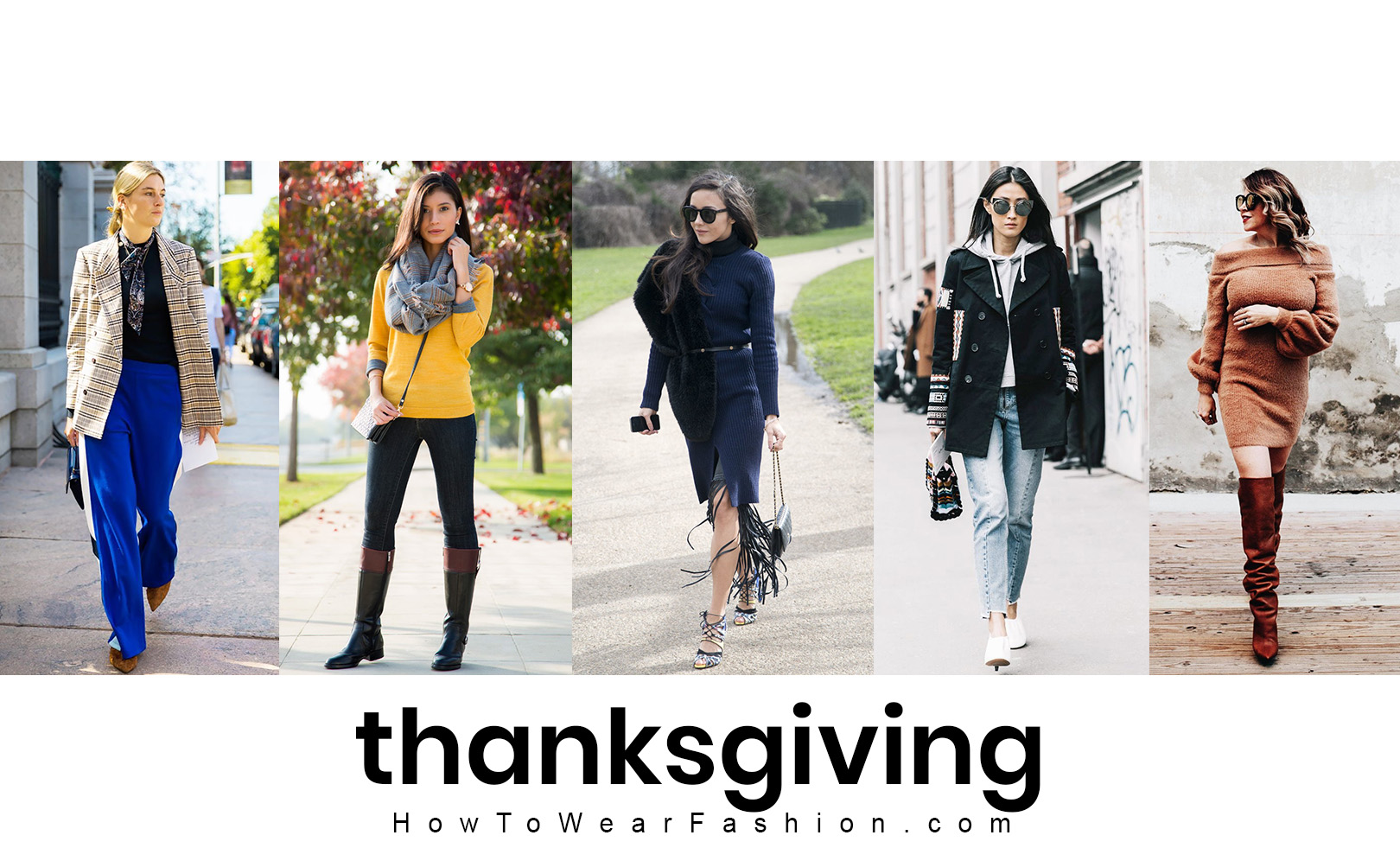 Thanksgiving outfit ideas! What to wear for Thanksgiving, including how to do your hair and makeup.