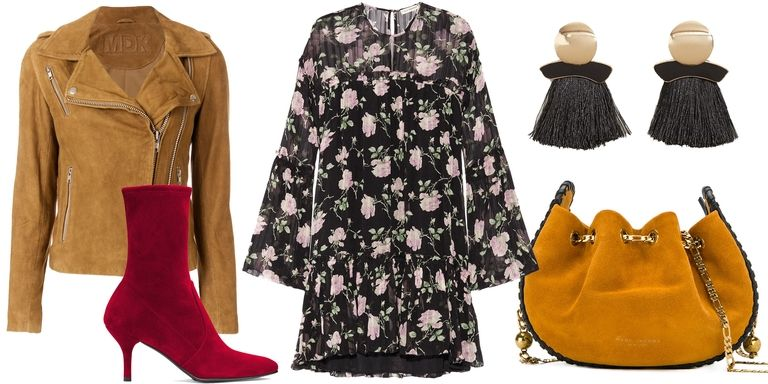 thanksgiving-red-shoe-booties-camel-jacket-moto-cognac-bag-earrings-floral-print-black-dress-peasant-fall-winter-dinner.jpg