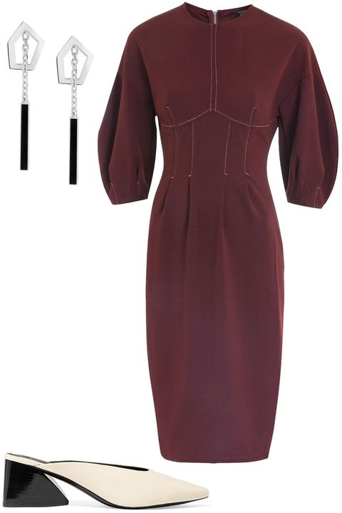 burgundy-dress-bodycon-white-shoe-pumps-mules-earrings-holiday-puffsleeve-thanksgiving-outfits-fall-winter-dinner.jpg