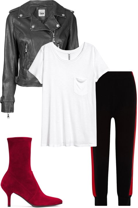 black-joggers-pants-white-tee-trackpants-thanksgiving-outfit-red-shoe-booties-black-jacket-moto-fall-winter-dinner.jpg