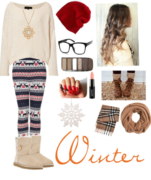 blue-navy-leggings-zprint-white-sweater-tan-shoe-booties-tan-scarf-nail-howtowear-fashion-style-outfit-fall-winter-basic-christmas-holidays-necklace-pend-uggs-beanie-hairr-weekend.jpg
