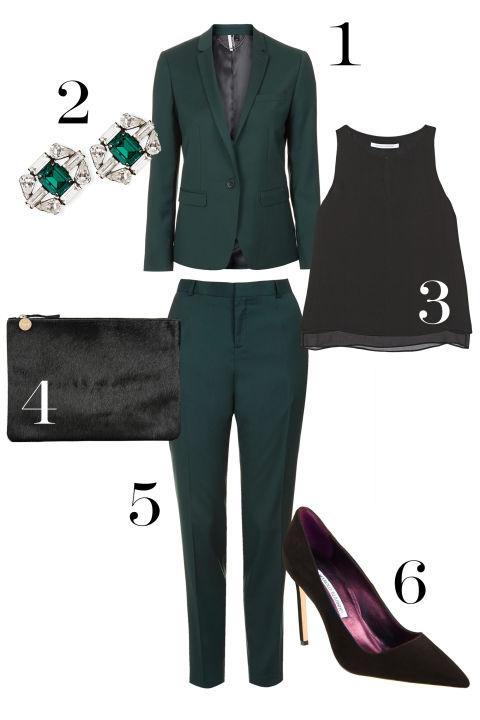 green-dark-slim-pants-black-top-green-dark-jacket-blazer-suit-black-shoe-pumps-black-bag-clutch-studs-howtowear-fashion-style-outfit-fall-winter-holiday-work.jpg