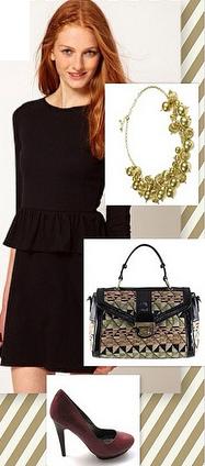 black-dress-mini-bib-necklace-tan-bag-print-burgundy-shoe-pumps-lbd-howtowear-fashion-style-outfit-fall-winter-hairr-holiday-dinner.jpg