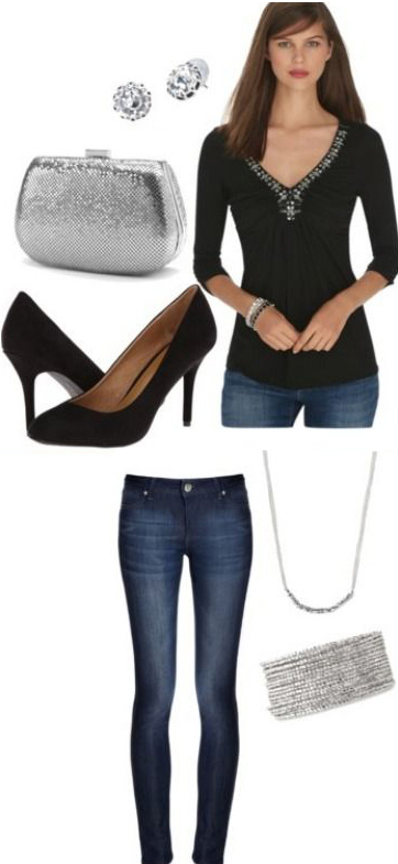 blue-navy-skinny-jeans-black-top-necklace-gray-bag-clutch-studs-black-shoe-pumps-howtowear-fashion-style-outfit-fall-winter-holiday-dinner.jpg