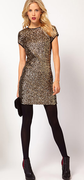 o-tan-dress-mini-sequin-blonde-black-tights-black-shoe-booties-black-bag-clutch-howtowear-fashion-style-outfit-fall-winter-holiday-dinner.jpg