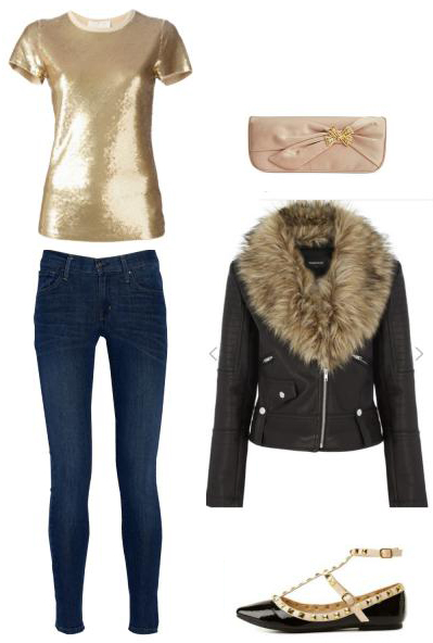 blue-navy-skinny-jeans-o-tan-top-metallic-tan-bag-clutch-black-jacket-moto-black-shoe-flats-howtowear-fashion-style-outfit-fall-winter-holiday-dinner.jpg