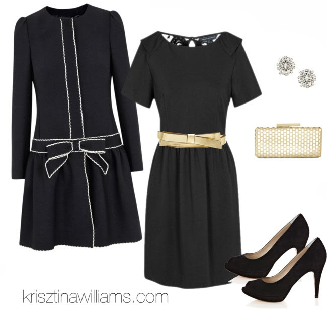 black-dress-mini-belt-lbd-black-jacket-coat-bow-black-shoe-pumps-tan-bag-clutch-studs-howtowear-fashion-style-outfit-fall-winter-holiday-party-dinner.jpg
