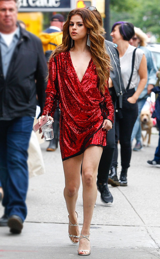 red-dress-a-gray-shoe-sandalh-howtowear-fashion-style-outfit-fall-winter-sequin-holidays-mini-selena-gomez-party-earrings-celebrity-hairr-classic-dinner.jpg