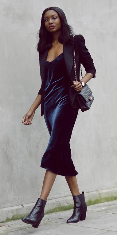 blue-navy-dress-slip-black-jacket-blazer-black-shoe-booties-black-bag-brun-velvet-howtowear-fashion-style-outfit-fall-winter-holiday-dinner.jpg