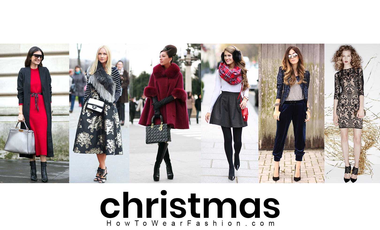 What to wear for Christmas! Here, outfit, makeup, hair, and nail ideas for all your Christmas holiday occasions.
