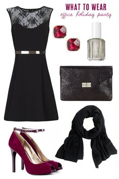 black-dress-aline-lbd-red-shoe-pumps-studs-black-scarf-black-bag-clutch-nail-office-holiday-howtowear-fashion-style-outfit-fall-winter-dinner.jpg