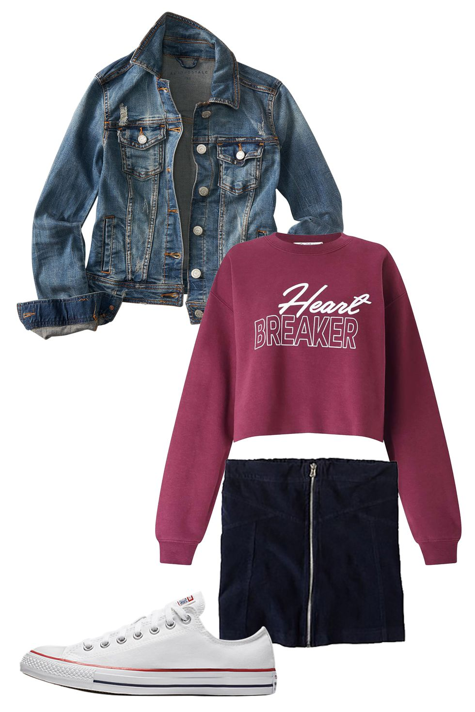 black-mini-skirt-burgundy-sweater-sweatshirt-graphic-blue-med-jacket-jean-white-shoe-sneakers-converse-howtowear-valentinesday-outfit-fall-winter-weekend.jpg