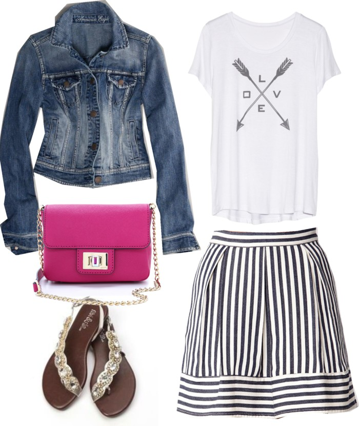 white-mini-skirt-stripe-blue-med-jacket-jean-pink-bag-white-graphic-tee-tan-shoe-sandals-howtowear-valentinesday-outfit-fall-winter-weekend.jpg
