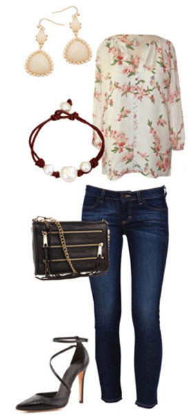 blue-navy-skinny-jeans-white-top-floral-print-earrings-bracelet-black-bag-black-shoe-pumps-howtowear-valentinesday-outfit-fall-winter-lunch.jpg