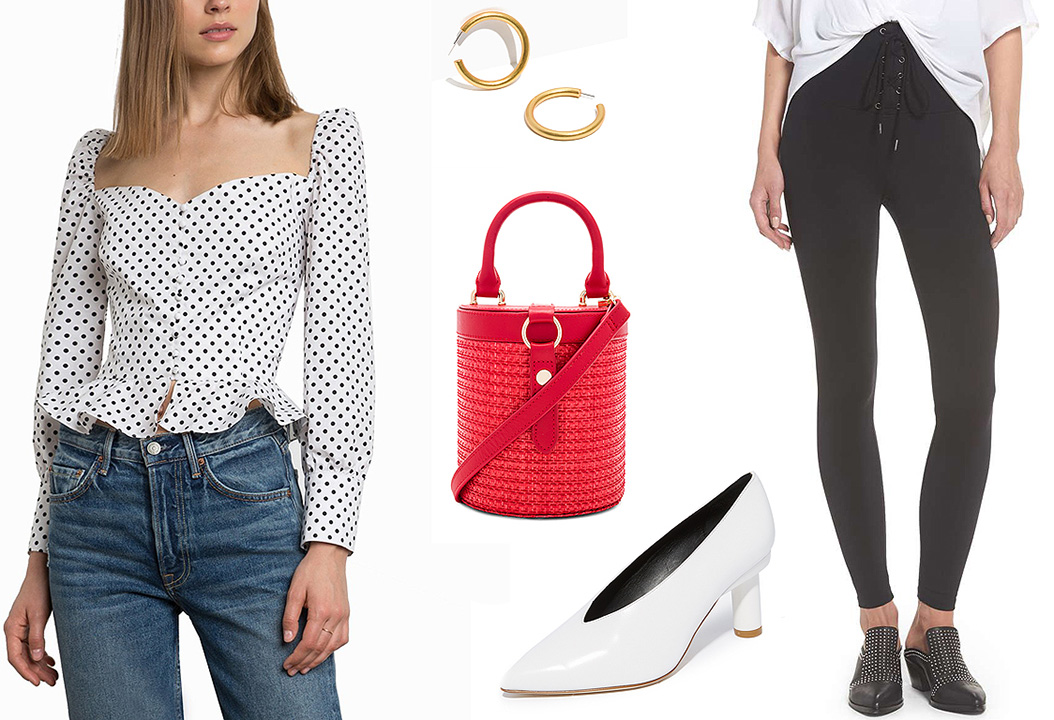 black-leggings-white-shoe-pumps-red-bag-hoops-white-top-peplum-polkadot-print-howtowear-valentinesday-outfit-fall-winter-lunch.jpg