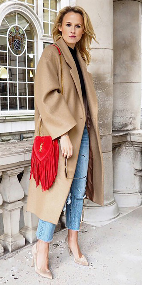 blue-light-skinny-jeans-tan-jacket-coat-blonde-red-bag-tan-shoe-pumps-howtowear-valentinesday-outfit-fall-winter-lunch.jpg