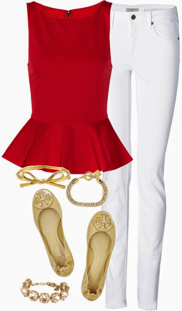 white-skinny-jeans-red-top-peplum-tan-shoe-flats-gold-bracelet-howtowear-valentinesday-outfit-fall-winter-lunch.jpg
