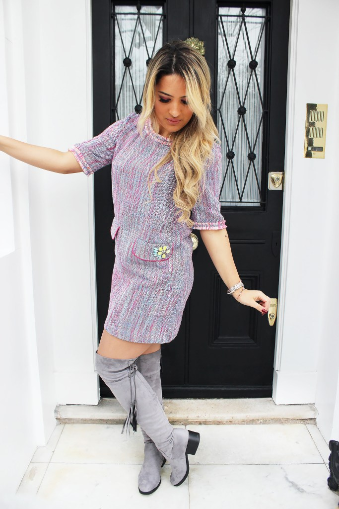 pink-light-dress-mini-shift-tweed-gray-shoe-boots-otk-blonde-howtowear-valentinesday-outfit-fall-winter-lunch.jpg
