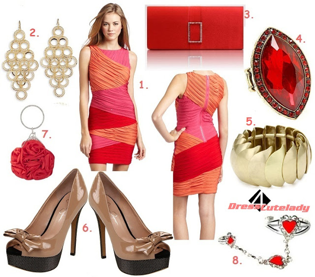 pink-magenta-dress-bodycon-print-red-bag-clutch-ring-earrings-bracelet-tan-shoe-pumps-howtowear-valentinesday-outfit-fall-winter-dinner.jpg
