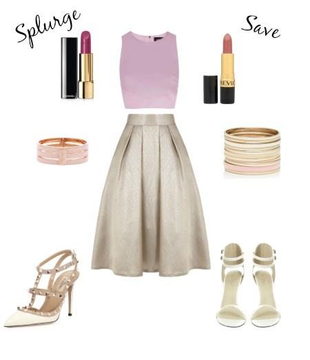 tan-midi-skirt-pink-light-crop-top-bracelet-white-shoe-pumps-howtowear-valentinesday-outfit-fall-winter-dinner.jpg