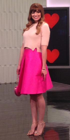 pink-magenta-midi-skirt-peach-top-pink-bag-tan-shoe-sandalh-gold-hairr-tonal-howtowear-valentinesday-outfit-fall-winter-dinner.JPG
