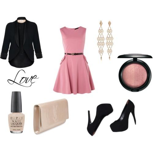 pink-light-dress-mini-aline-black-shoe-pumps-earrings-white-bag-clutch-black-jacket-blazer-howtowear-valentinesday-outfit-fall-winter-dinner.jpg