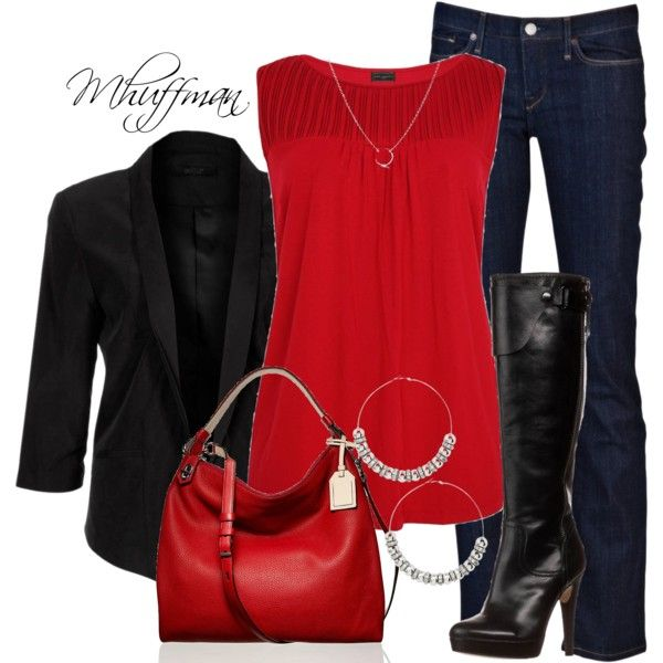 blue-navy-skinny-jeans-black-shoe-boots-red-top-blouse-red-bag-hoops-black-jacket-blazer-howtowear-valentinesday-outfit-fall-winter-dinner.jpg