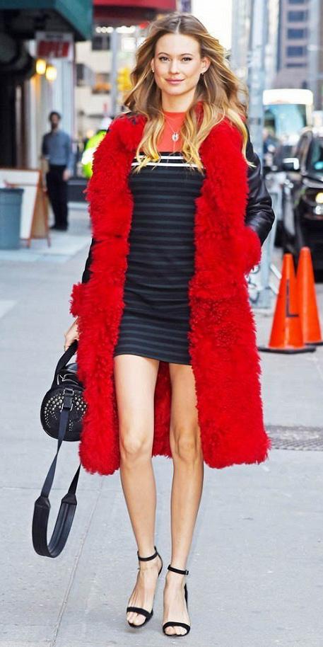 black-dress-mini-tshirt-red-jacket-coat-blonde-black-bag-black-shoe-sandalh-howtowear-valentinesday-outfit-fall-winter-dinner.jpg