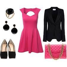 pink-magenta-dress-mini-black-jacket-blazer-pink-bag-earrings-ring-black-shoe-pumps-howtowear-valentinesday-outfit-fall-winter-dinner.jpg