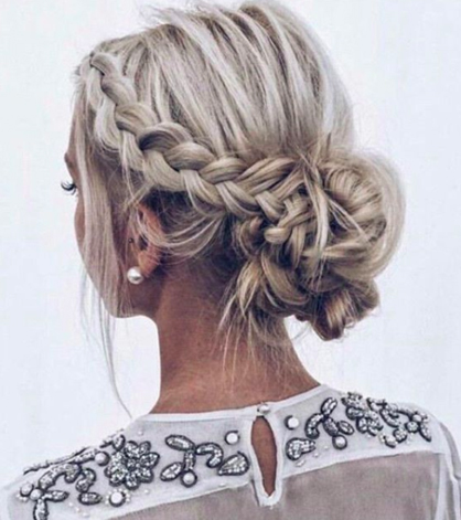 hair-styles-what-to-wear-valentines-day-dinner-holiday-outfits-winter-braided-bun-nape-messy.jpg