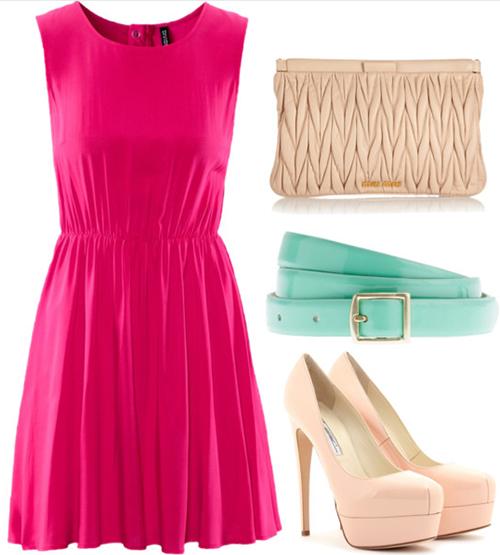pink-magenta-dress-mini-belt-white-shoe-pumps-howtowear-valentinesday-outfit-fall-winter-dinner.jpg