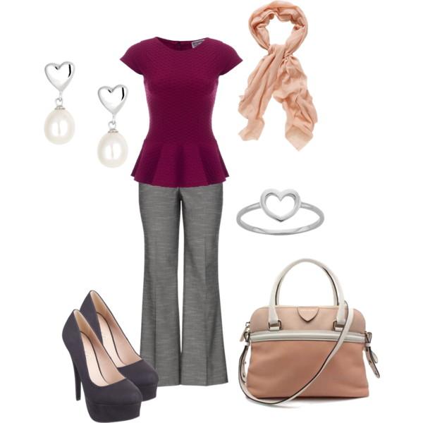 grayd-wideleg-pants-r-burgundy-top-peplum-gray-shoe-pumps-earrings-bracelet-peach-scarf-tan-bag-valentinesday-howtowear-fashion-style-outfit-spring-summer-work.jpg