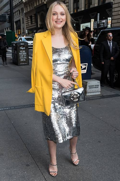 what-to-wear-for-a-spring-wedding-guest-outfit-grayl-dress-sequin-midi-slip-yellow-jacket-blazer-gray-bag-blonde-dinner.jpg