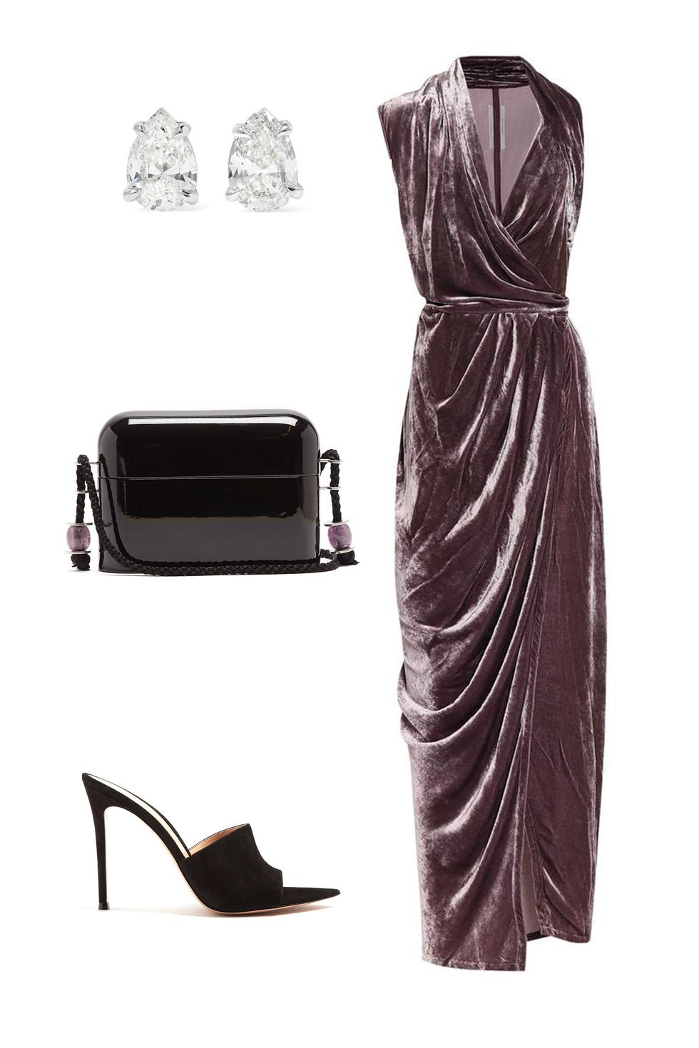 what-to-wear-for-a-fall-wedding-guest-outfit-autumn-velvet-grayd-dress-maxi-wrap-black-bag-black-shoe-sandalh-studs-dinner.jpg