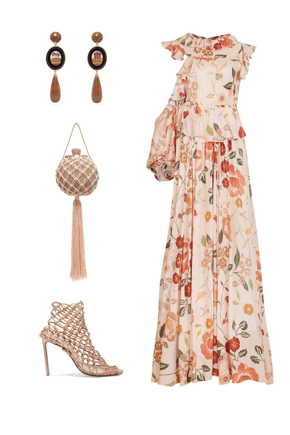 what-to-wear-for-a-fall-wedding-guest-outfit-autumn-new-school-prarie-peach-dress-maxi-floral-print-tan-shoe-sandalh-earrings-dinner.jpg