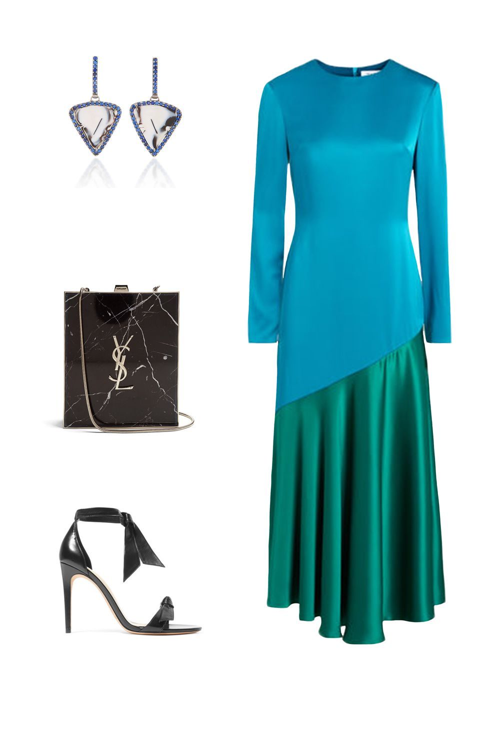 what-to-wear-for-a-fall-wedding-guest-outfit-autumn-gallery-blue-med-dress-midi-colorblock-black-bag-black-shoe-sandalh-earrings-dinner.jpg