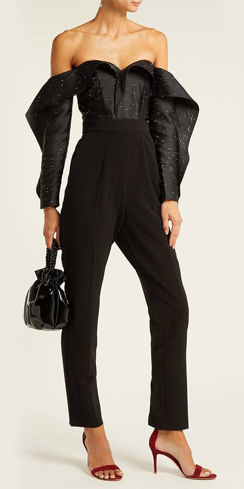 what-to-wear-for-a-fall-wedding-guest-outfit-autumn-black-jumpsuit-offshoulder-red-shoe-sandalh-black-bag-dinner.jpg