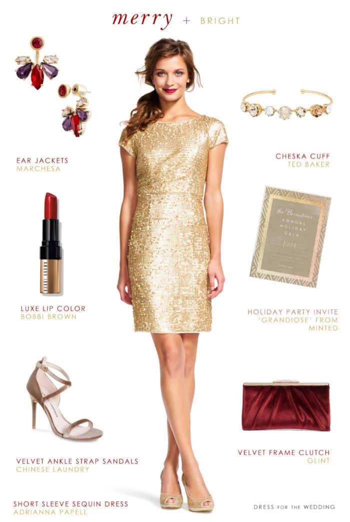 what-to-wear-for-a-winter-wedding-guest-outfit-tan-dress-shift-gold-hairr-earrings-burgundy-bag-clutch-christmas-dinner.jpg