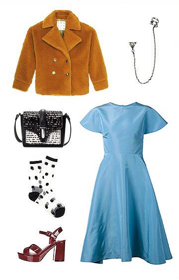 what-to-wear-for-a-winter-wedding-guest-outfit-blue-light-dress-aline-camel-jacket-coat-fur-black-bag-socks-burgundy-shoe-sandalh-dinner.jpg