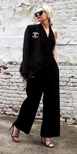 what-to-wear-for-a-winter-wedding-guest-outfit-black-jumpsuit-mono-blonde-bun-sun-black-jacket-blazer-black-shoe-sandalh-dinner.jpg
