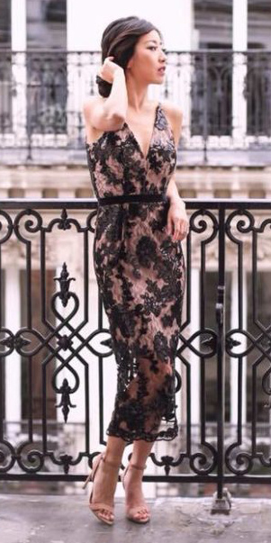 what-to-wear-for-a-winter-wedding-guest-outfit-black-dress-lace-midi-shift-sheer-brun-bun-tan-shoe-sandalh-dinner.jpg