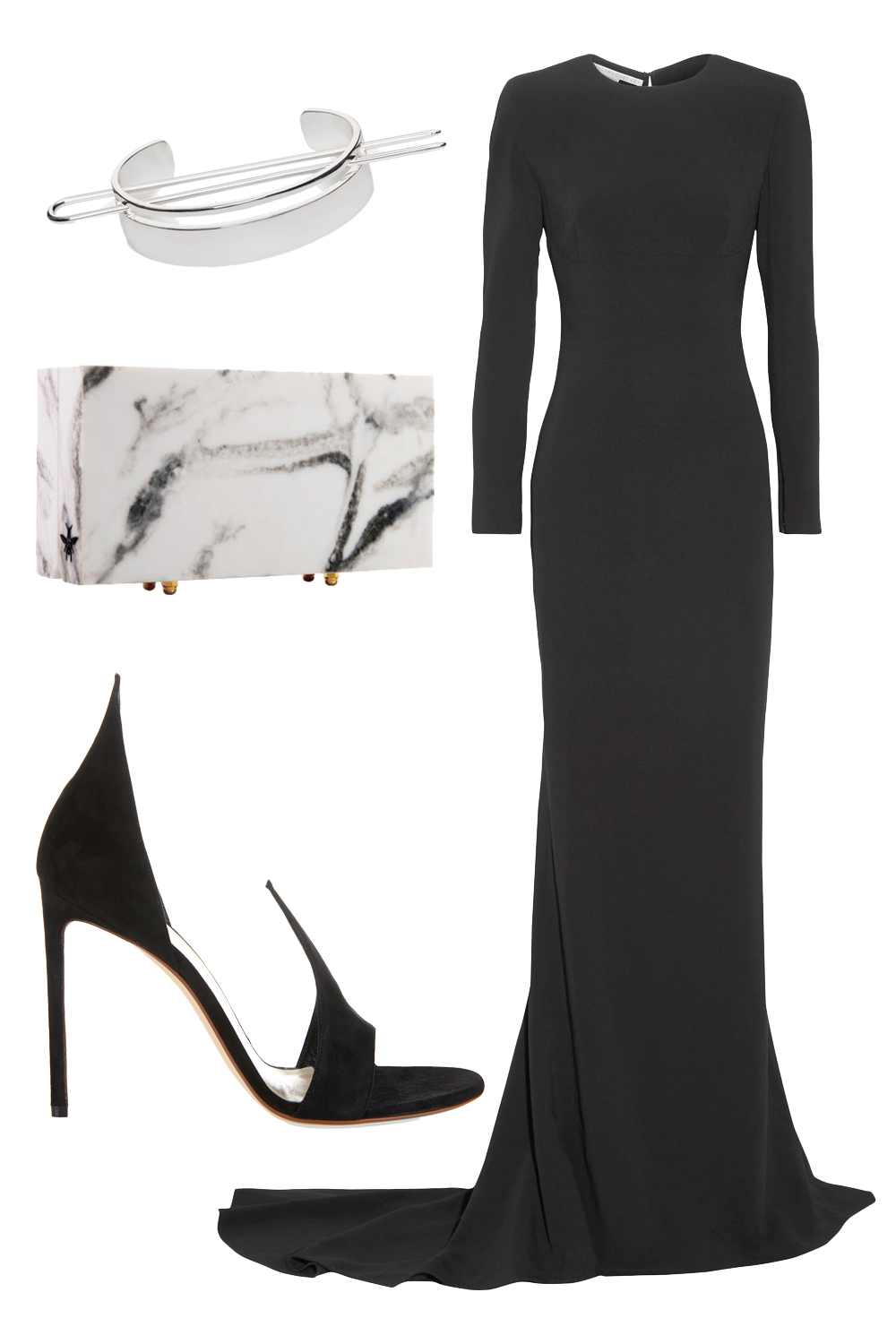 what-to-wear-for-a-winter-wedding-guest-outfit-black-dress-maxi-black-shoe-sandalh-white-bag-clutch-dinner.jpg