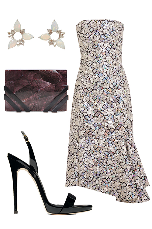 what-to-wear-for-a-winter-wedding-guest-outfit-white-dress-midi-strapless-studs-burgundy-bag-clutch-black-shoe-sandalh-dinner.jpg