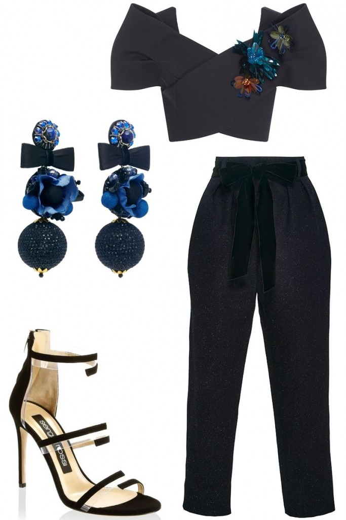 what-to-wear-for-a-winter-wedding-guest-outfit-black-joggers-pants-black-crop-top-earrings-black-shoe-sandalh-dinner.jpg
