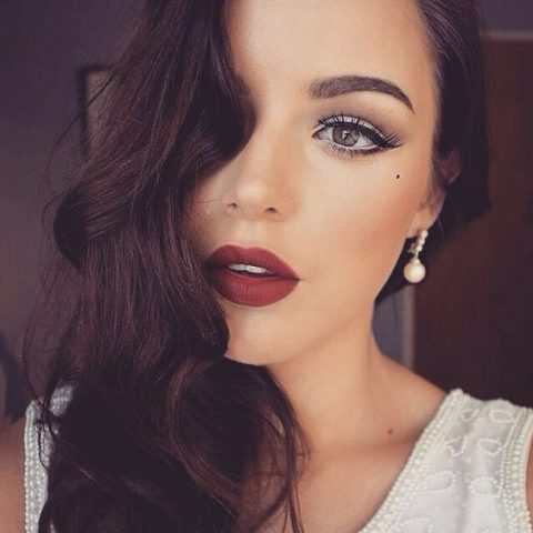 lips-how-to-do-your-makeup-for-wedding-guest-beauty-dark-red-lipstick.jpg
