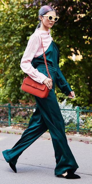 how-to-style-green-dark-jumpsuit-orange-bag-hairr-pony-sun-fall-winter-fashion-lunch.jpg