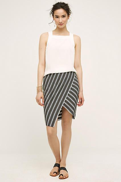 grayd-pencil-skirt-white-top-howtowear-style-fashion-spring-summer-black-shoe-sandals-bun-stripes-asymmetrical-brun-lunch.jpg