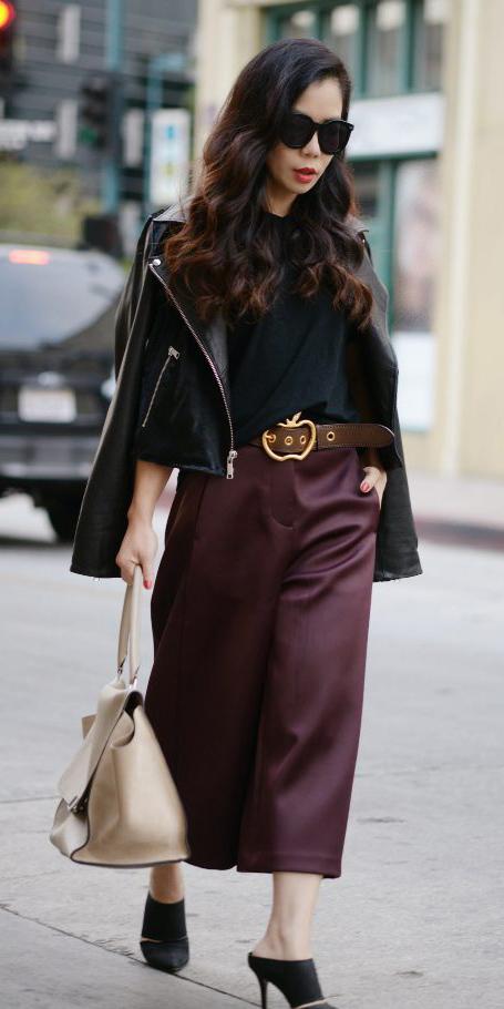 burgundy-culottes-pants-belt-black-jacket-moto-brun-sn-white-bag-black-shoe-pumps-fall-winter-lunch.jpg